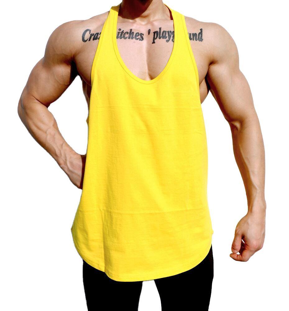 Wholesale Custom Logo Size Color Mens Tank Tops Fitness Sportswear Outwork Sleeveless Singlet for Training