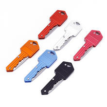 folding knife camping tactics outdoor knives carry pocket field survival key chain key knife Self-defense knife