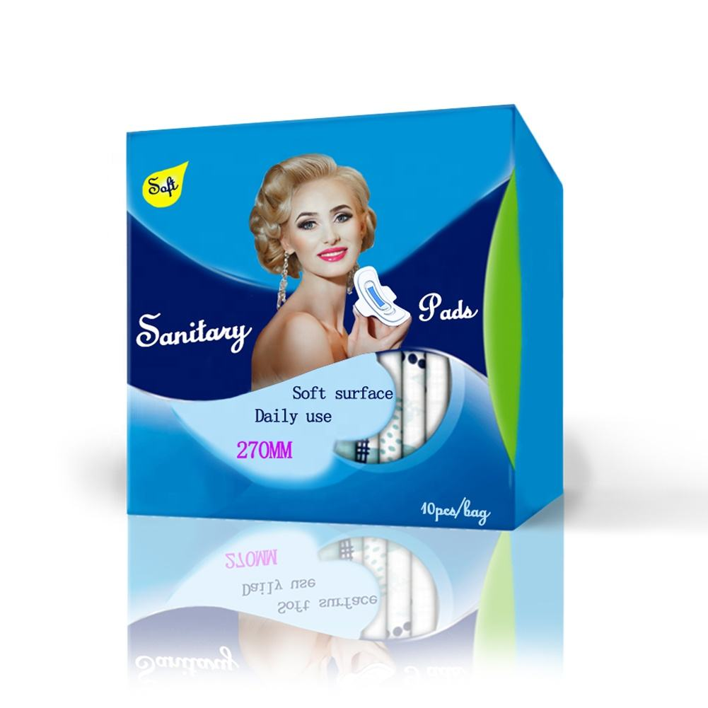 Ultra Thick Ladies Pads Wholesale Organic Cotton Anion Sanitary Napkin For Women