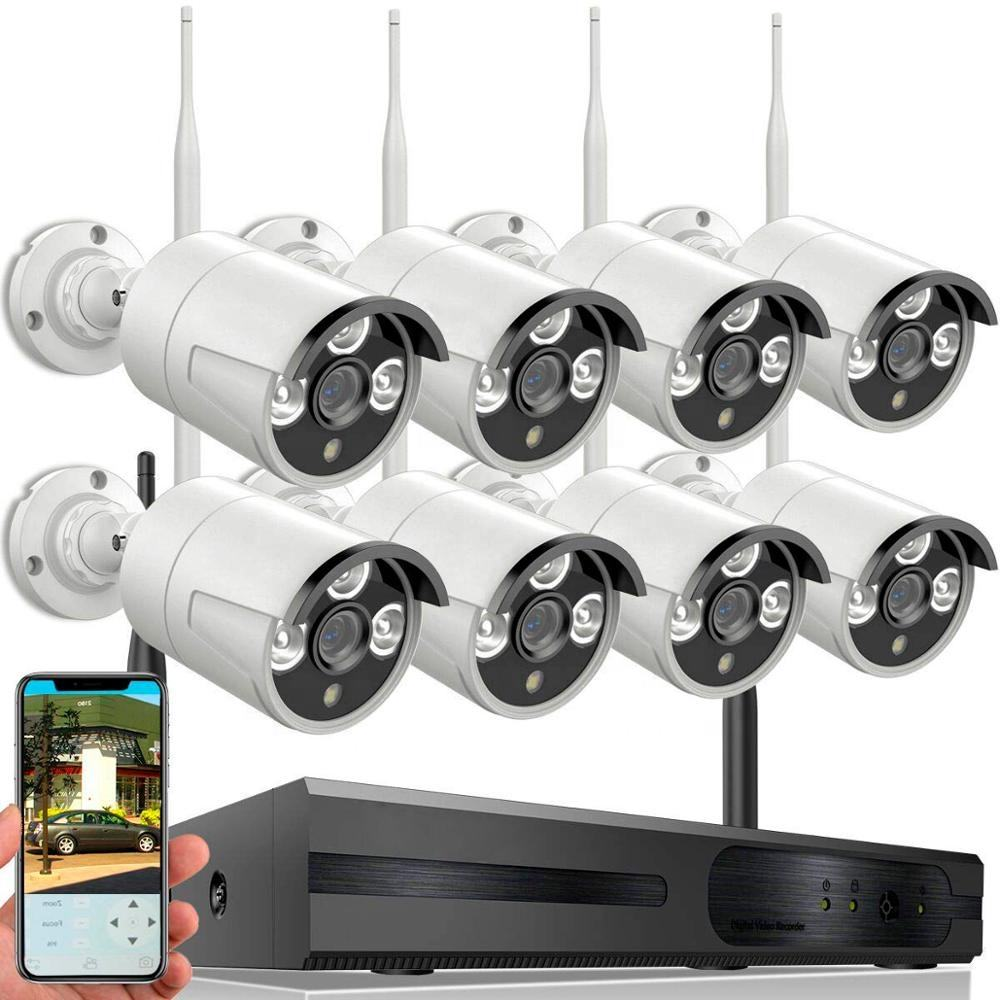 Network hd 8 channel kit nvr dvr set system ip wireless security wifi cctv camera