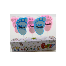 Foot Shaped Birthday Candle Celebration for Baby Party