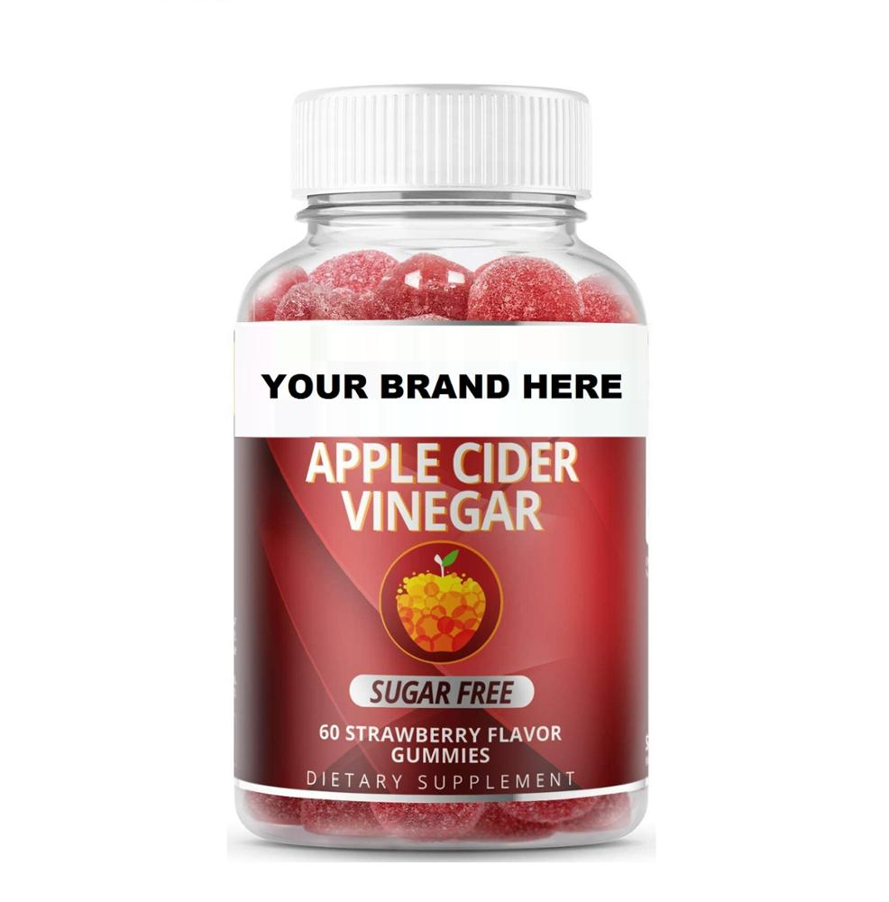 Private Label Supplement Apple Cider Vinegar Vegan Gummies Bear Apple Vinegar Gummy