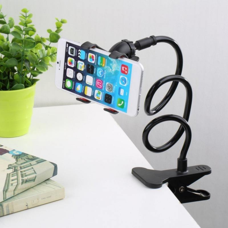 Creative Adjustable Phone Camara Holder with Clip Portable Solid Multi-functional Telescopic Lazy Plastic Cell Phone Holder