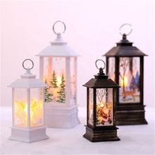 New Christmas Simulated Flame LED Lamp Portable Small Oil Lamp Decoration Supplies