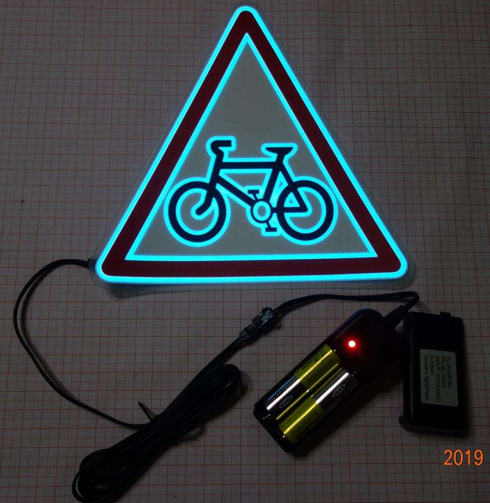 High luminance AAX2PCS INVERTER EL sheet for bike Safety Vest / Bicycle EL safety vest