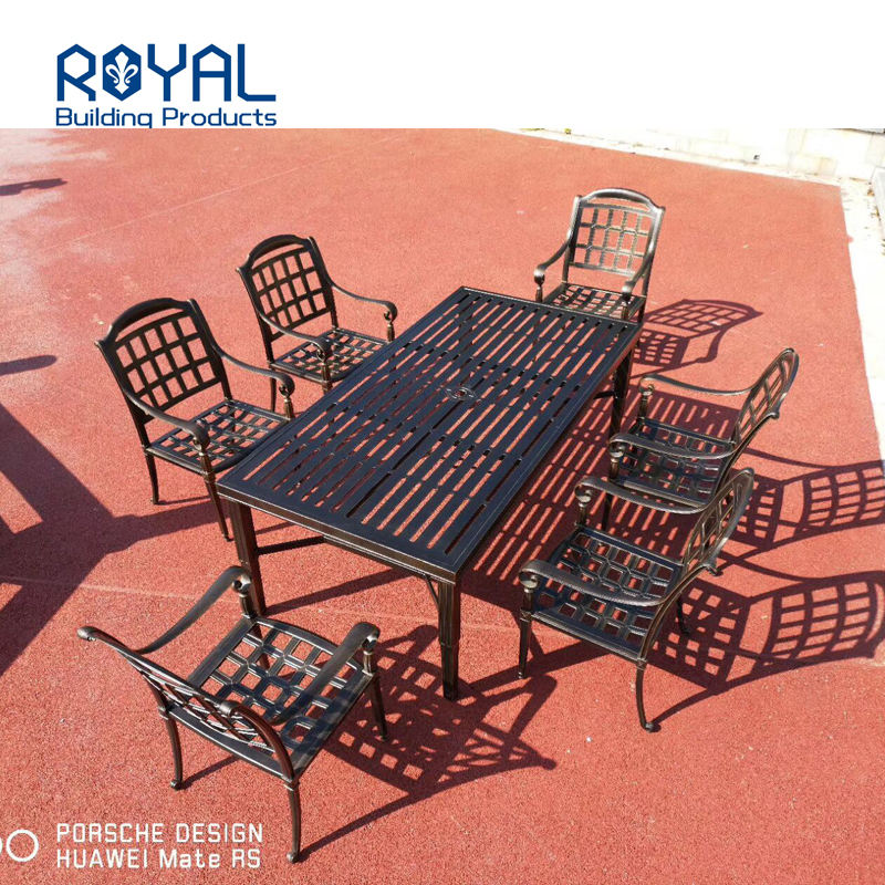 Factory supply waterproof patio cast aluminum tea table and chair set outdoor/Patio/Garden/Cottage/Courtyard/Beach furniture