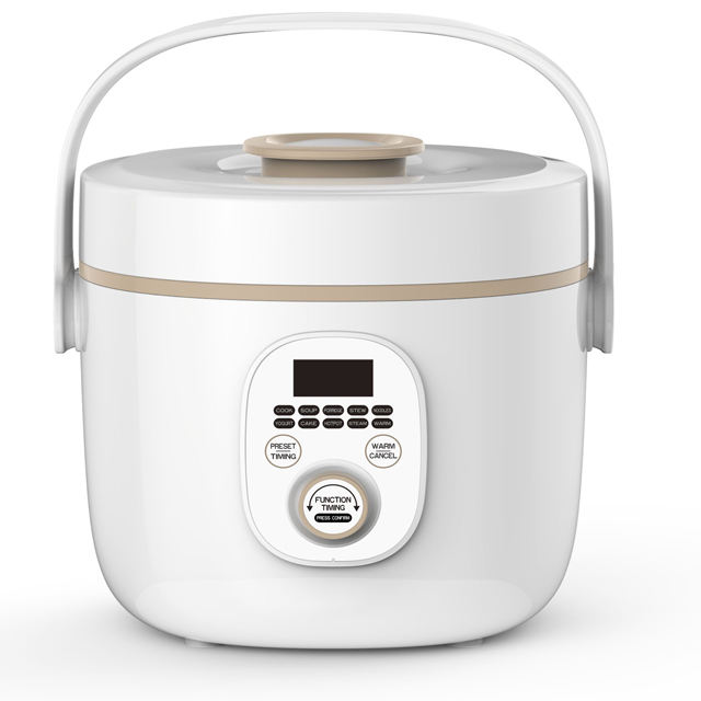 2019 NEW hot sale non-stick coating inner pot with steamer 2L portable electric steamer porridge cooker