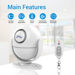 Indoor Wireless Security PIR Motion Sensor RF 433mHz Detektor 125DB Alarm