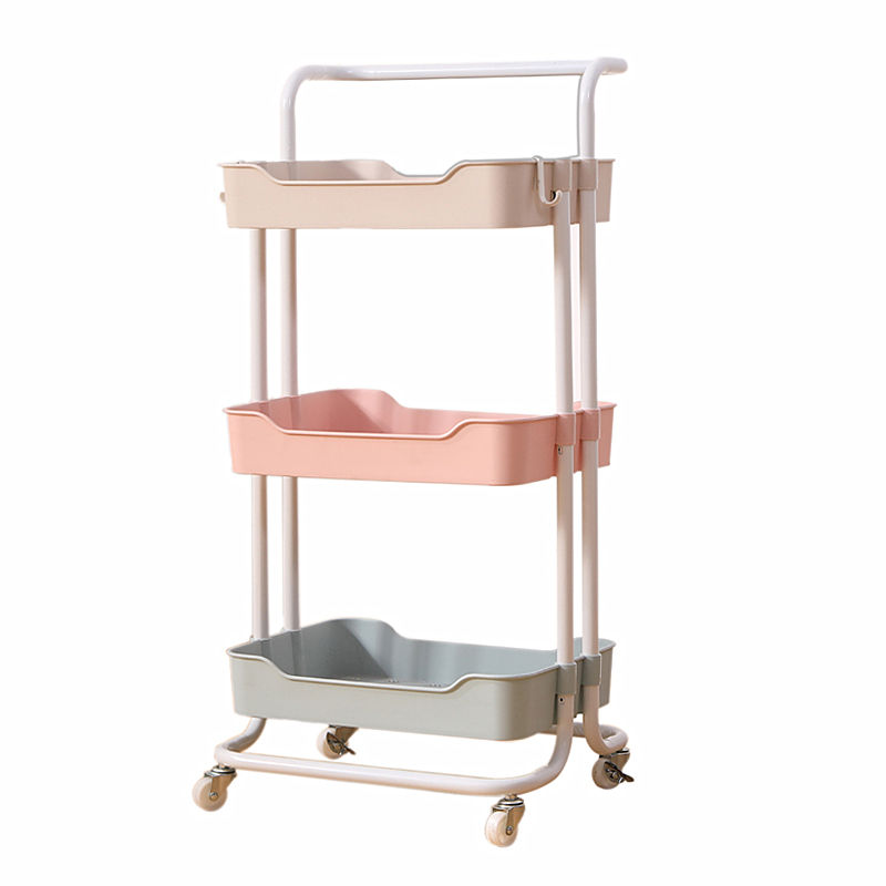 3 Tier Rolling Utility Bathroom Rack Home Trolley Kitchen Shelf Storage Organizer Craft Cart