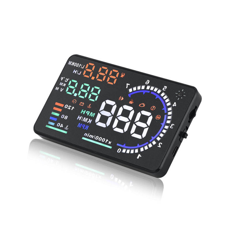 Nieuwe Update Auto Led Hud 5.5 Inch Grote Scherm Hud Display Projector Head Up Display System Obd Ii Speed Obd diagnose Display