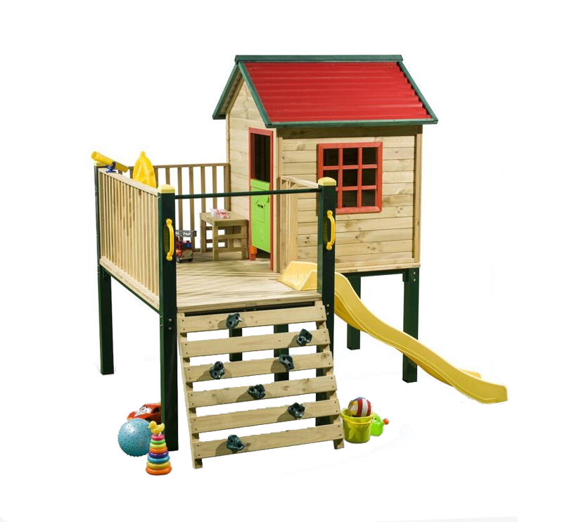 Hotsale Outdoor Playhouse Playground Fashionable Children House Wooden Cubby House for Kids