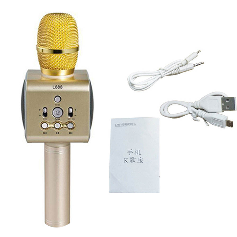 Bayatu Wholesale Professional News Microphone with Flag for Interview Studio Recording
