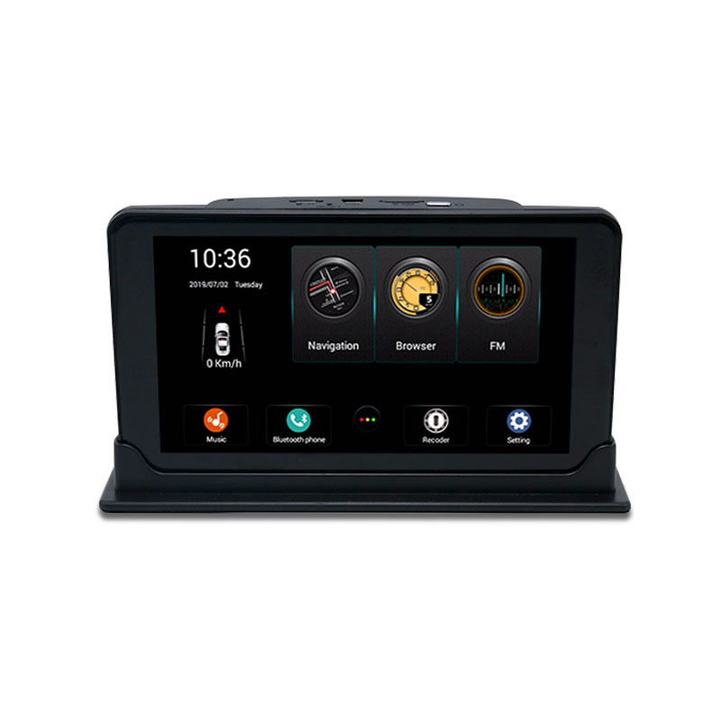 "Primeiro-mundo Qualcomm 4G Android 7 ""Display FHD1080P Dual Lens GPS Navigation WiFi FM Bluetooth Car DVR câmera Dashcam Carro Preto"
