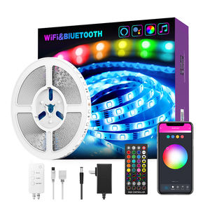 Tuya Bluetooth Wifi Rgb Light Strip 5050 Led Muziek Sync Met Afstandsbediening Draadloze Smart Led Strip Verlichting