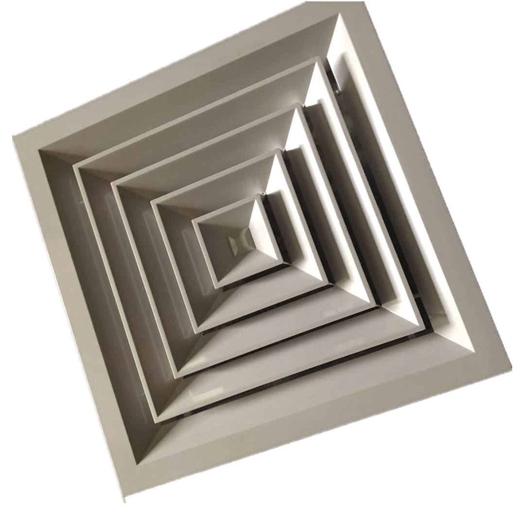 ABS square air ceiling diffuser 4 way HVAC air grille