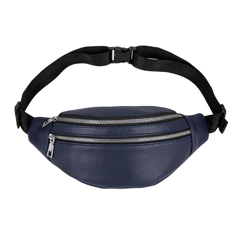 New Fashion Vintage Simple Cool High Quality Leather Pure Color Saddle Shape Women Waist Bag