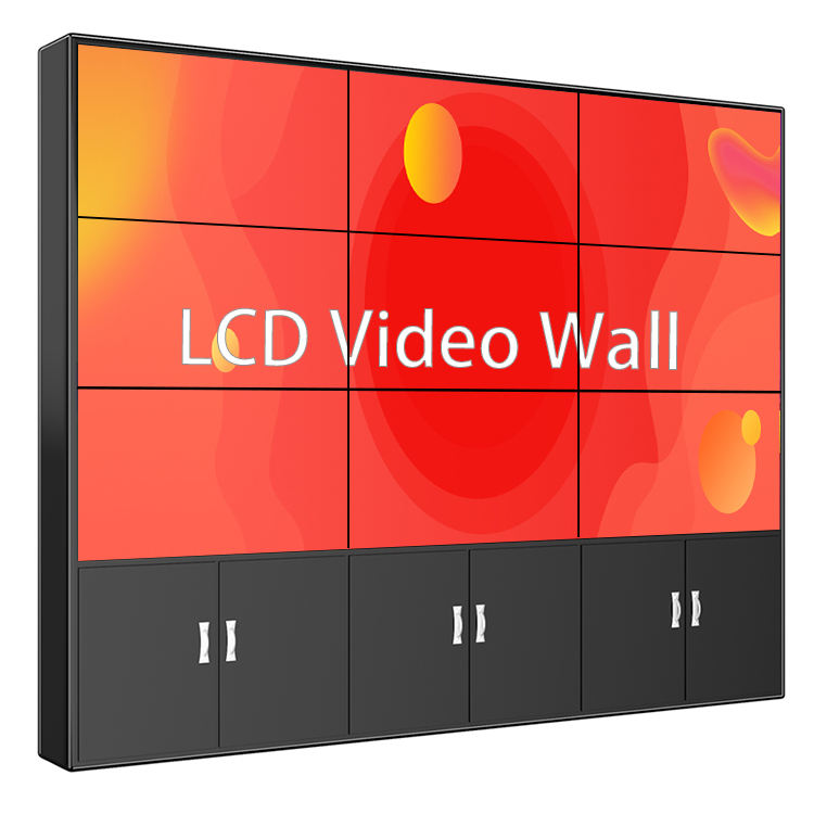 55 inch 3x3 processor controller advertising screen 4K display LCD video wall