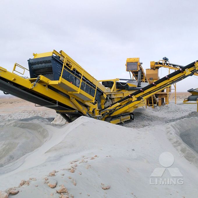 Portable crushing and screen plants, screening equipment portable for construction
