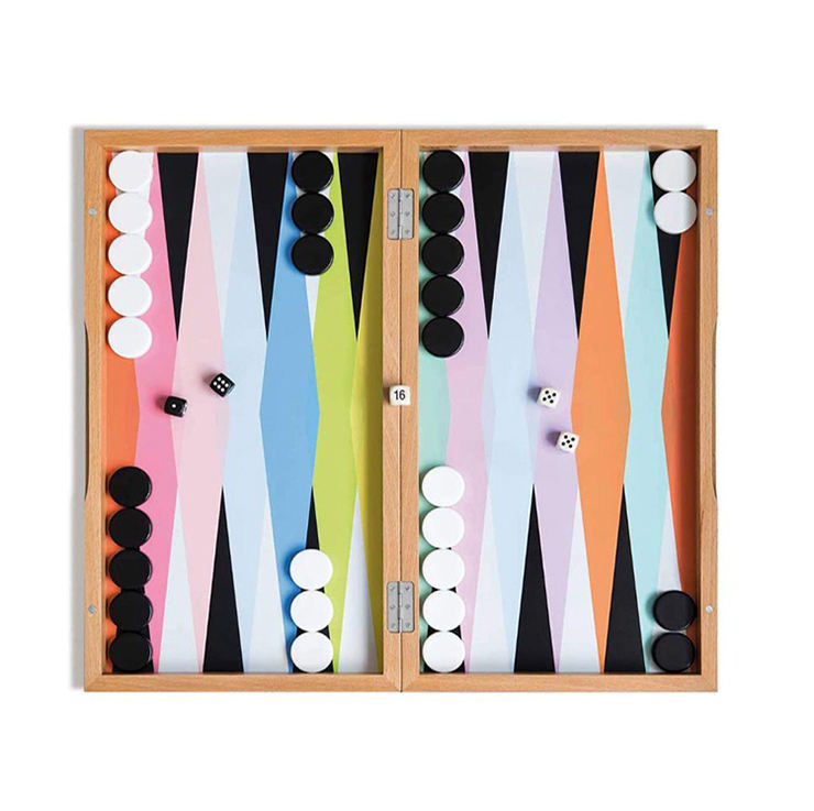 Fabriek Direct Handgemaakte High End Gelakte <span class=keywords><strong>Houten</strong></span> <span class=keywords><strong>Backgammon</strong></span> Board Games Gift <span class=keywords><strong>Set</strong></span>