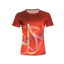 Red Color T-Shirts Music Sublimated Design Men's Casual Wear T-Shirts For Sale