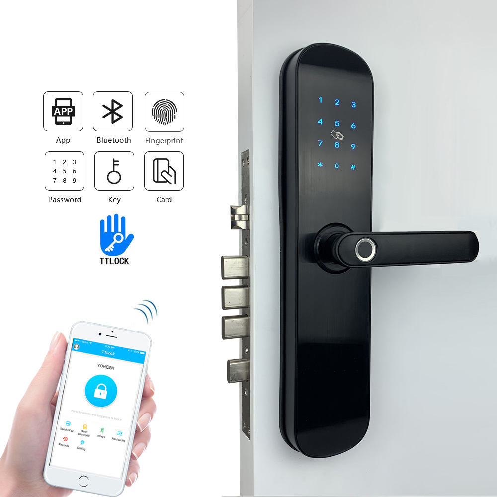 Yoheen Elektronische Sicherheit Smart Bluetooth App WiFi Digitale Code IC Karte Biometrische Fingerprint Türschloss für Home