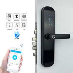 Yoheen Electronic Security Smart Bluetooth App WiFi Digital Code IC Card Biometric Fingerprint Door Lock for Home