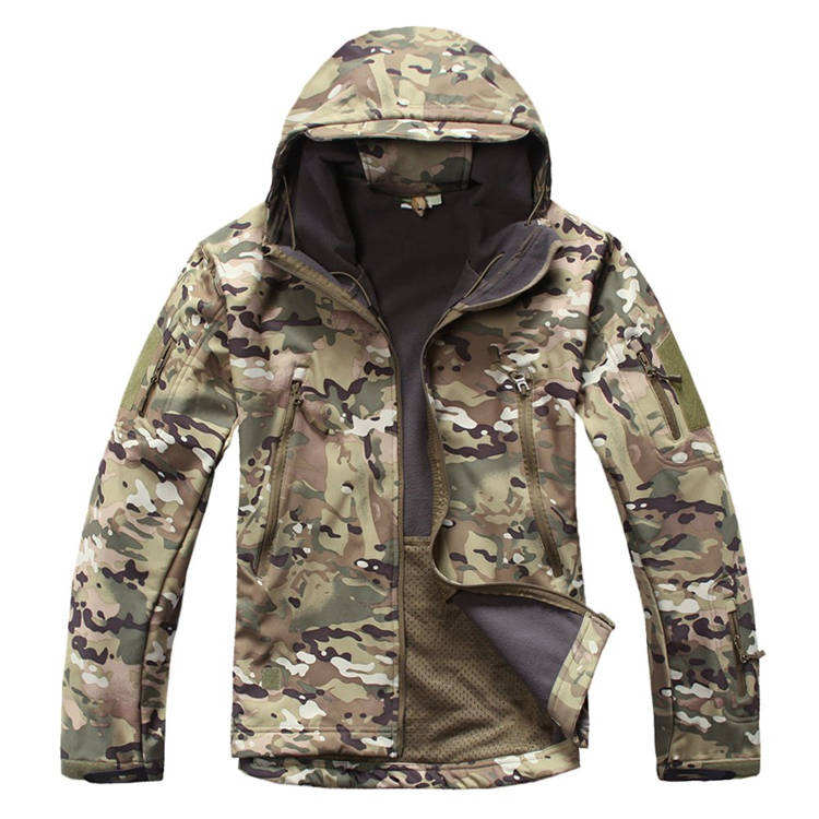 Softshell Jacket Men Winter Fleece Military Clothes Tactical Jacket Male Waterproof Windproof Jacket Army Hunt Clothing