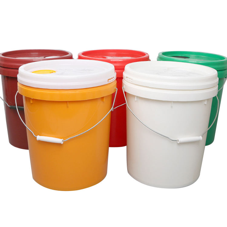 15L Plastic Bucket HDPE Colorful 15 Liter 5 Galllon Packaging Plastic Bucket With Lids
