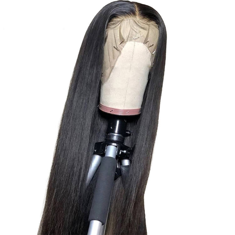For Black Women With Baby Hair Wig Brazilian 13X6 Straight Glueless Transparent Hd 100% Raw Virgin Human Hair Lace Front Wigs