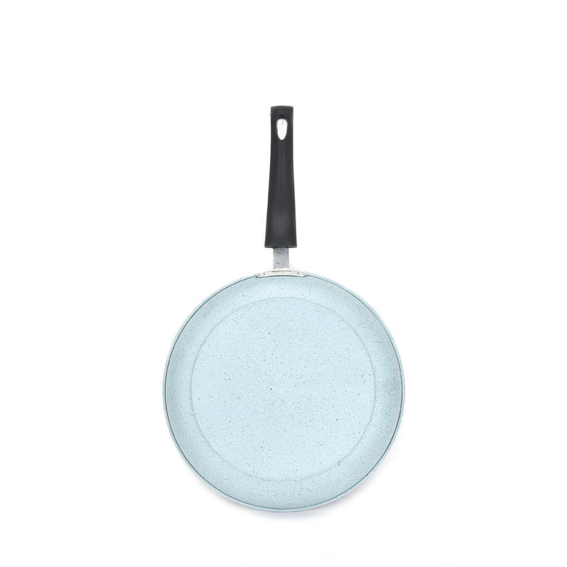 Colorful carbon steel skillet for for all cooking stove marble coating frypan hot sale
