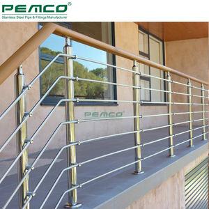 Venta al por mayor Hospital Tubular Gill de acero inoxidable barandilla sistema de diseño para terraza