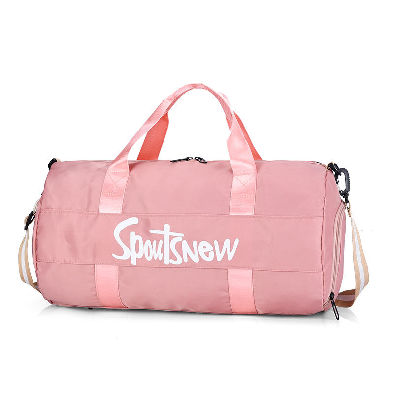 Wholesale Custom Outdoor Travel Sports Black Pink Men Women Gym Bag