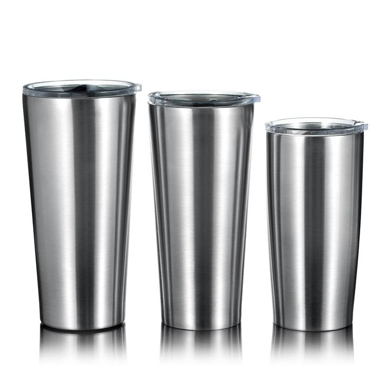 With Lid Stainless Steel Mug Straw 20oz/24oz Custom Logo Double Wall Stainless Steel Tumbler Travel Coffee Mug With Lid And Straw
