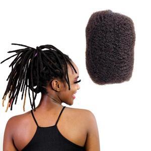 High Quality 100%Human Hair Afro Kinky Bulk Human Hair For Deradlock Hair Extensions Off Black