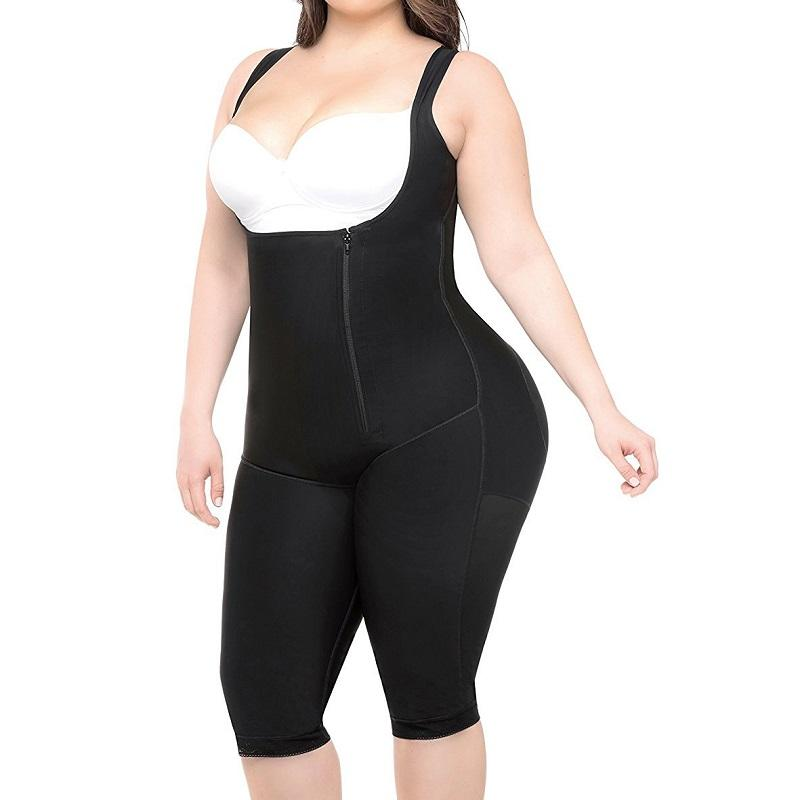 open crotch slimming Fajas shapewear colombian big women sexy full body shaper