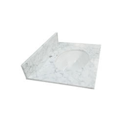 Factory Price Carrara White Marble Vanity Top With Sink For Bathroom