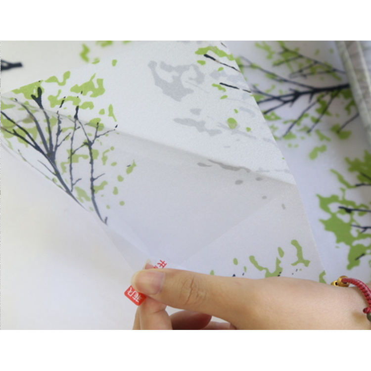 Home Decor Green Plant Patterned self-adhesive Cling vinyl Window Film Sticker