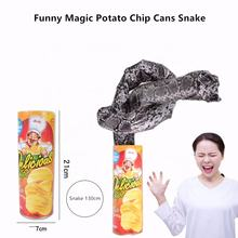 Funny Potato Chips Can Jump Spring Snake Toy Gift April Fool Day Halloween Party Decoration Jokes Prank Tricky Fun Joke Toys