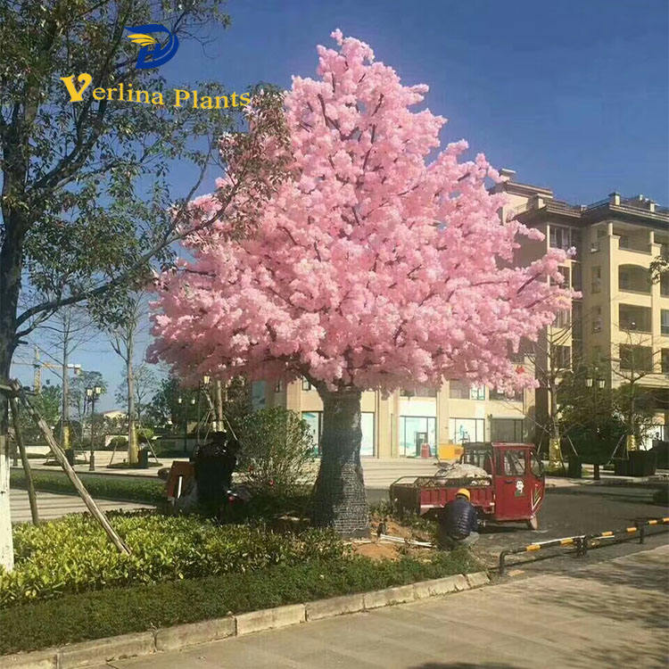 factory wholesale high quality artificial indoor outdoor cherry blossom tree for decoration