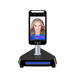 Hot sell Android 8.0inch Face Recognition Temperature Measuring Terminal with thermal scanner and door access control system