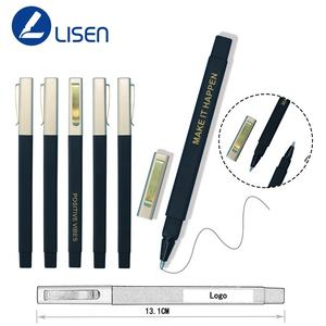 Custom promotional company slogan square soft rubber ball pen