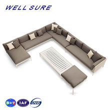 wholesale outdoor sofa furniture modern patio backyard custom aluminum PE rattan living room set sofa
