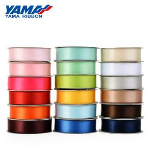Yama ribbon wholesale polyester 3-100MM width pure color single faced satin ribbon 100 yards per roll