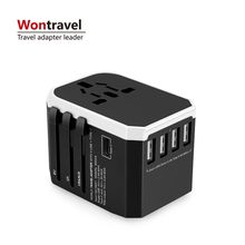 Universal Type C USB Port World Travel Fast Charger Adaptor International Plug Adapter Converter US UK AU EU