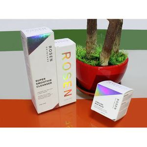Custom spot uv cosmetics packaging folding carton box printing