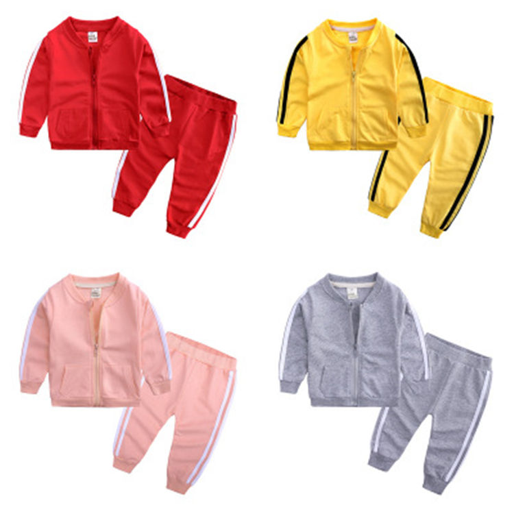 hot selling wholesale 2 piece boys and girls leisure fashion sports kids clothing sets
