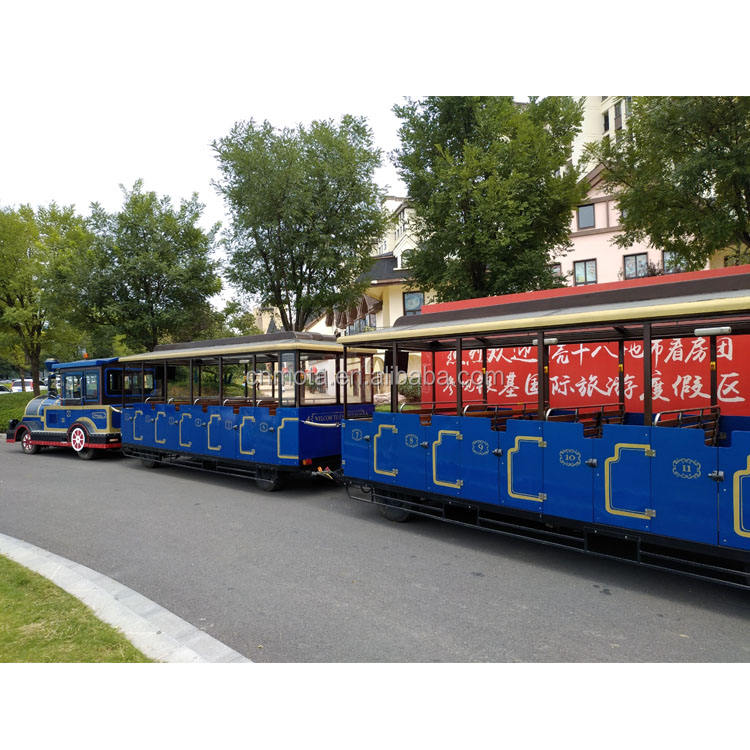 Attractions 48 seats tourist road train ride used trackless train ride for sale