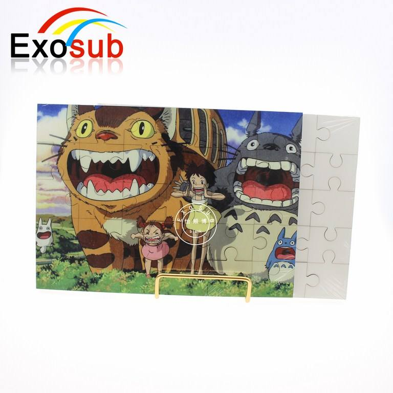 Custom MDF sublimation jigsaw puzzle blank for printing