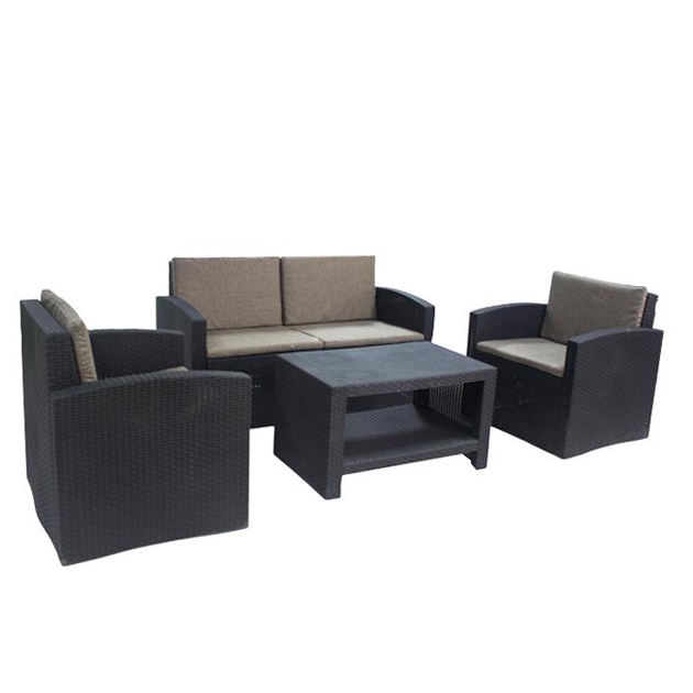 Outdoor Terrace Patio Furniture Injection Plastic Rattan Garden Sofa Set