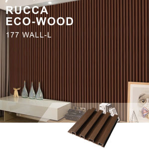 Rucca Easy Install Walnut Color Eco Wood Laminate Decorative Wall Cladding 177x21.5 WPC Panels
